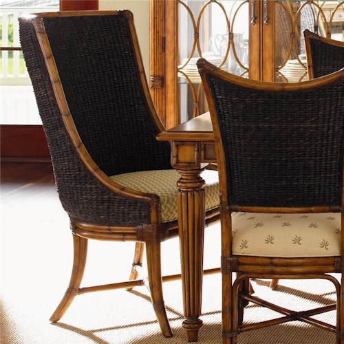 Tommy Bahama Home Island Estate <b>Quick Ship</b> Cruz Bay Host Chair with Woven Abaca