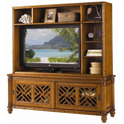 Tommy Bahama Home Island Estate Nevis Media Console & Hutch Entertainment Unit