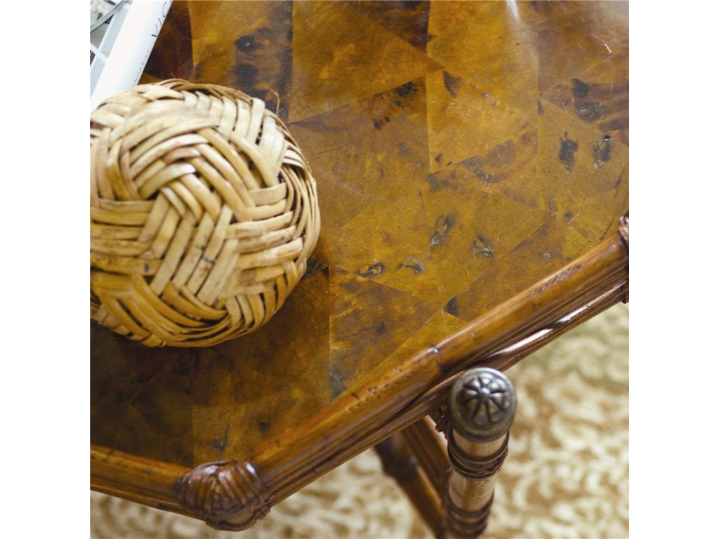 Stationary Tray Top with Cracked Penn Shell Bottom