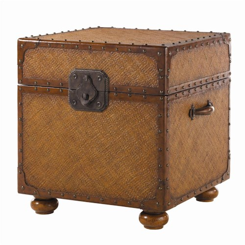 Tommy Bahama Home Island Estate Woven East Cove Trunk End Table