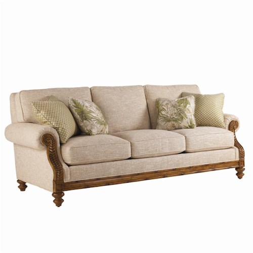 Tommy Bahama Home Island Estate West Shore Sofa with Tropical Accents