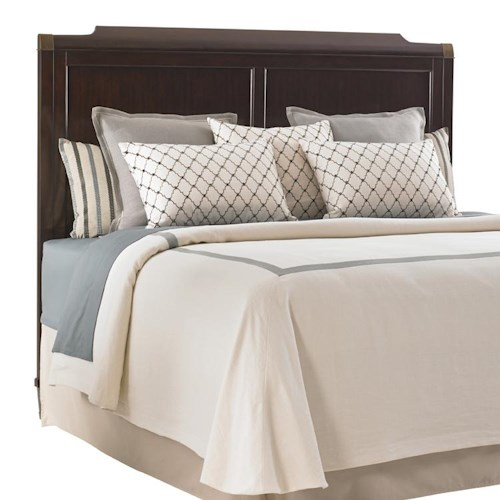 Lexington Kensington Place King Bennington Headboard with Burnished Brass Accents