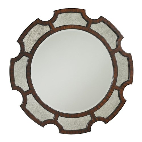 Lexington Kensington Place Del Mar Round Sunburst Mirror with Antiqued Detailing