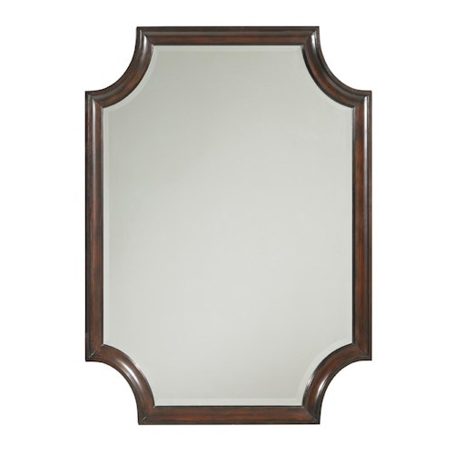Lexington Kensington Place Transitional Catalina Rectangular Mirror with Scalloped Edges