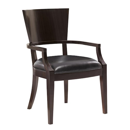 Lexington Kensington Place Transitional Carson Side Chair with Top Grain Leather Upholstery