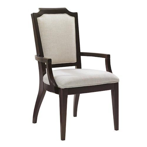 Lexington Kensington Place Candace Arm Chair Upholstered in Odessa Fabric