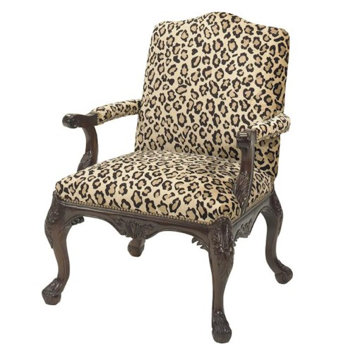 Lexington Lexington Upholstery Quinn Chair with Cabriole Wood Legs and Nailhead Trim