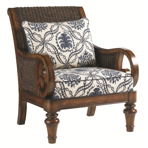 Lexington Lexington Upholstery Marin Chair - Loose Back Water Hyacanith Chair