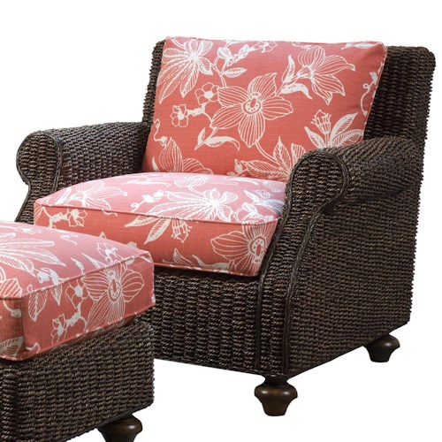 Lexington Lexington Upholstery Nick Chair - Loose Back Water Hyacinth Chair