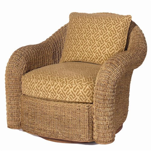 Lexington Lexington Upholstery Venture Swivel Chair with Woven Base