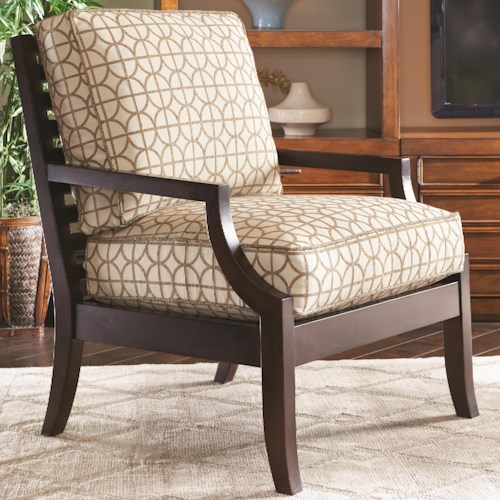Lexington Lexington Upholstery Joey Contemporary Chair with Wood Frame and Slatted Back