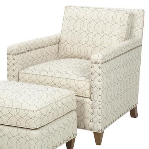 Lexington Lexington Upholstery Contemporary Chase Chair with Ornamental Nailheads