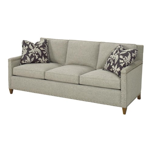 Lexington Lexington Upholstery Contemporary Chase Sofa with Ornamental Nailheads