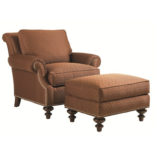Lexington Lexington Upholstery Darby Chair and Ottoman