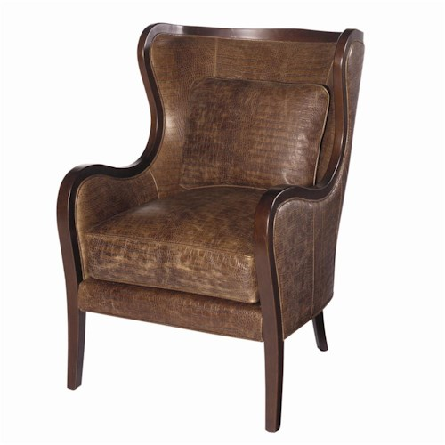 Lexington Lexington Leather Dakota Chair with  Attached Back