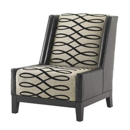 Lexington Lexington Leather Pearl Chair with Wood Base