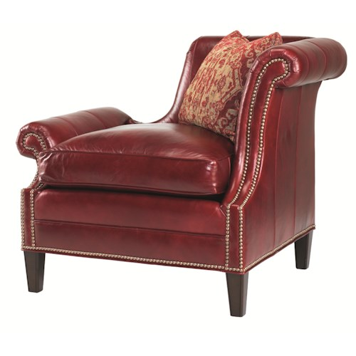 Lexington Lexington Leather Right Leaning Braddock Upholstered Chair