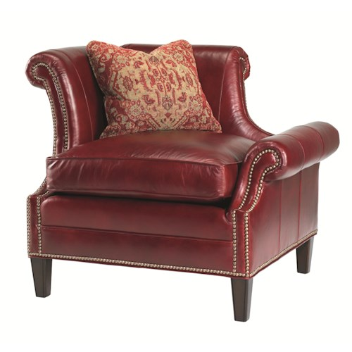 Lexington Lexington Leather Left Leaning Braddock Upholstered Chair