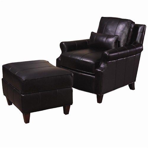 Lexington Lexington Leather Rosalind Leather Chair and Ottoman