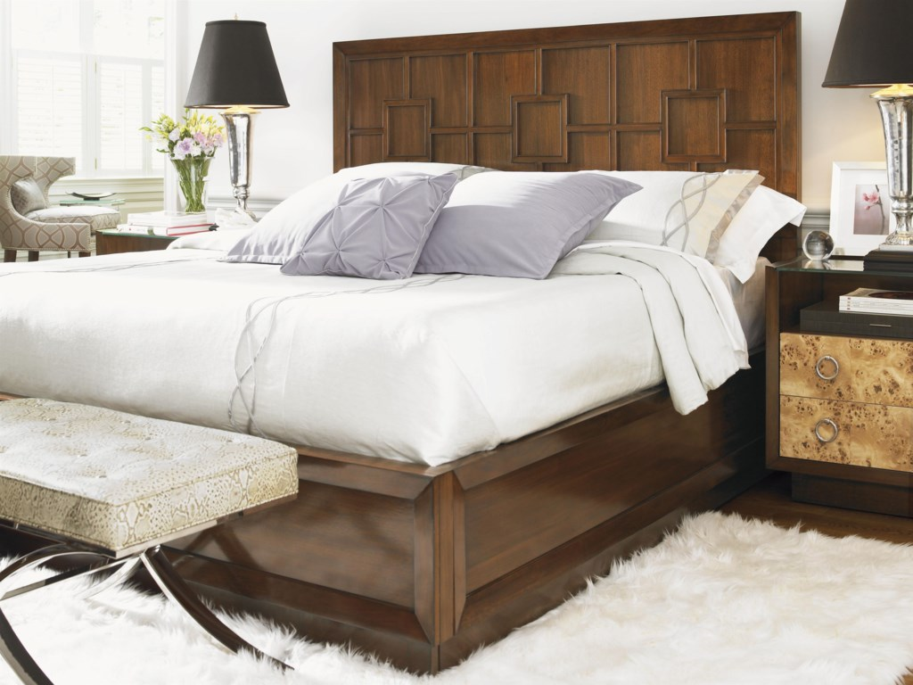 Shown with Bergman Glass Top Nightstand, Lombard Nightstand, Greta chair and the Marilyn Ottoman