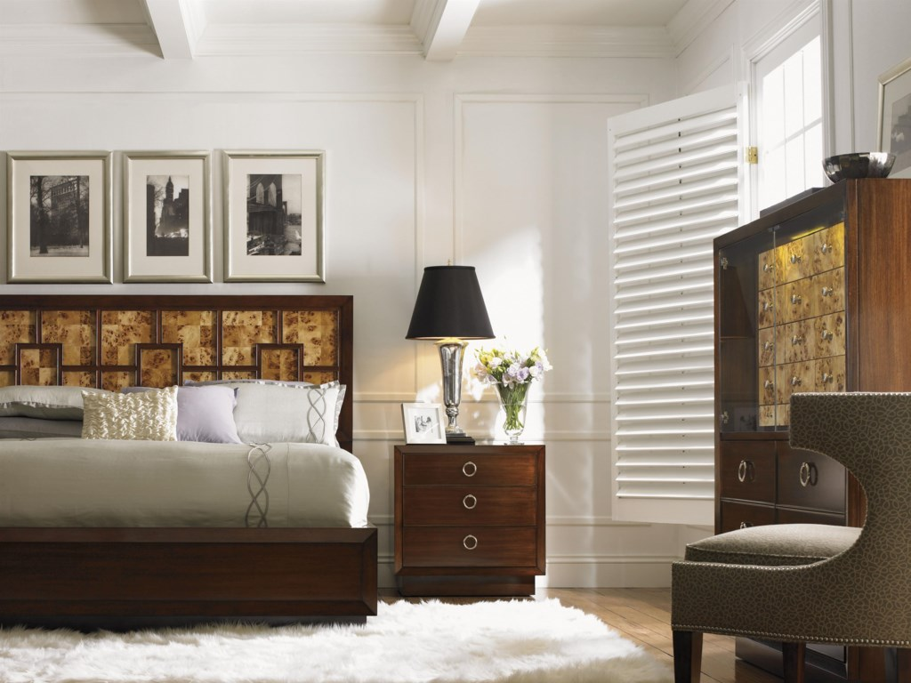 Shown with the Brando Gentleman's Chest, Greta Chair and Lombard Nightstand