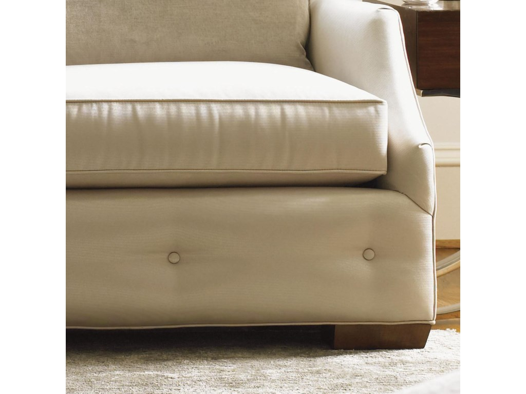 Detail of Tufted Base and Nickel Polished Legs