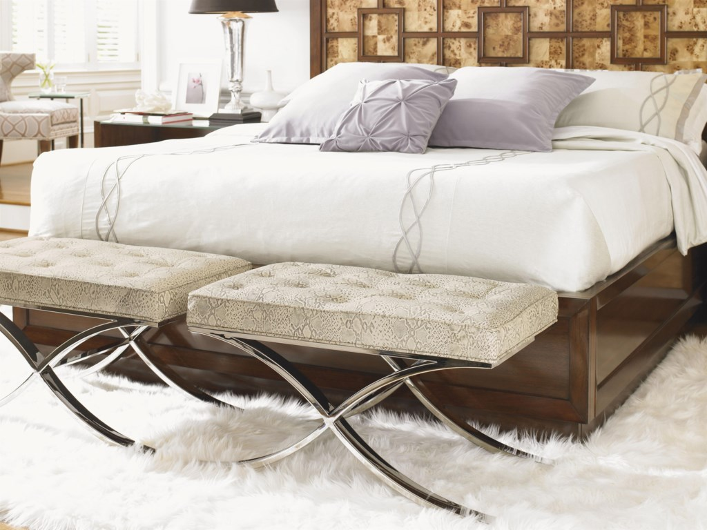 Shown with Harlow Panel Bed and Bergman Glass Top Nightstand