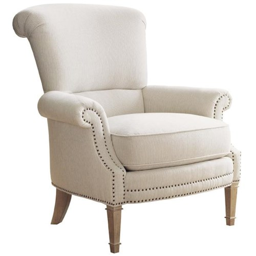 Lexington Monterey Sands Stillwater Chair with Rolled Arms