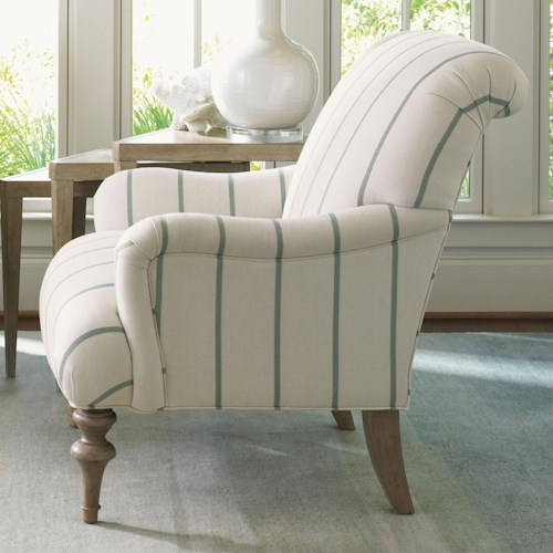 Lexington Monterey Sands Tight Back Jay Chair with Turned Legs