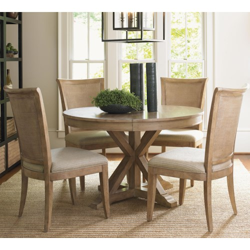 Lexington Monterey Sands Five-Piece San Marcos Dining Table and Los Altos Side Chairs Set