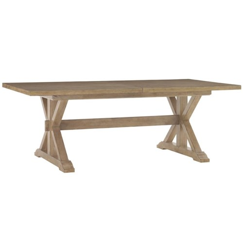 Lexington Monterey Sands Walnut Creek Trestle Dining Table