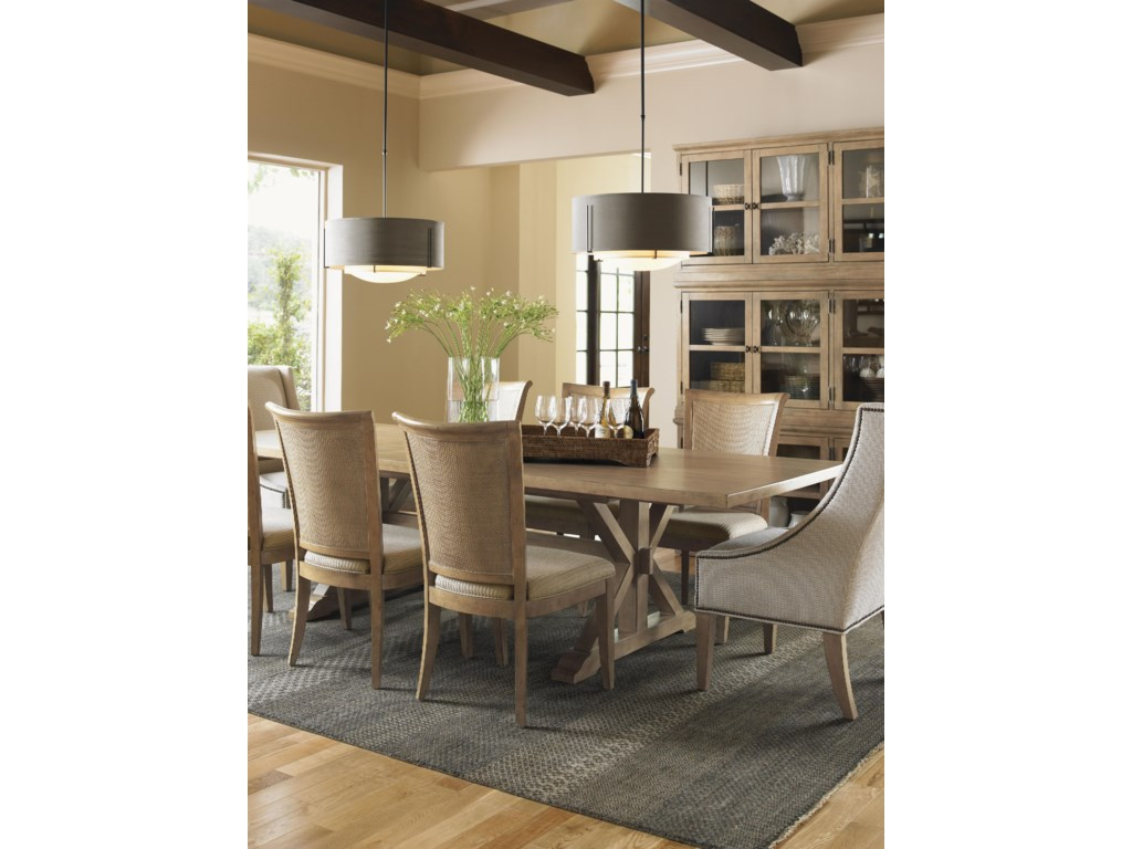 Shown with Sausalito Glass Door Stacking Unit, Los Altos Side Chair and Stonepine Chair