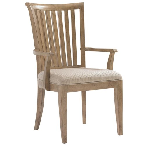 Lexington Monterey Sands Alameda Slat Back Arm Chair