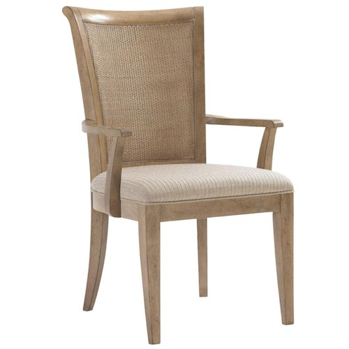 Lexington Monterey Sands <b>Customizable</b> Los Altos Arm Chair with Tapered Legs