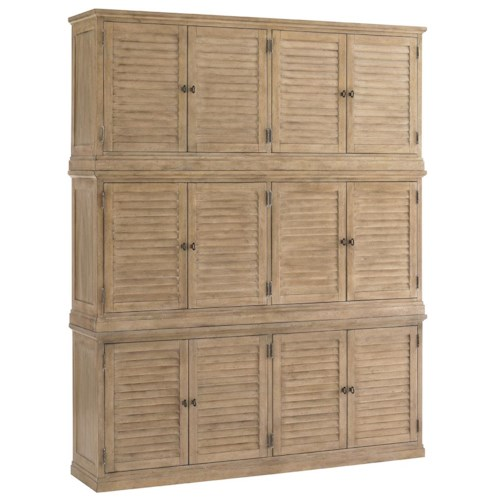 Lexington Monterey Sands Palo Alto Louvered Door Stacking Closed Bookcase