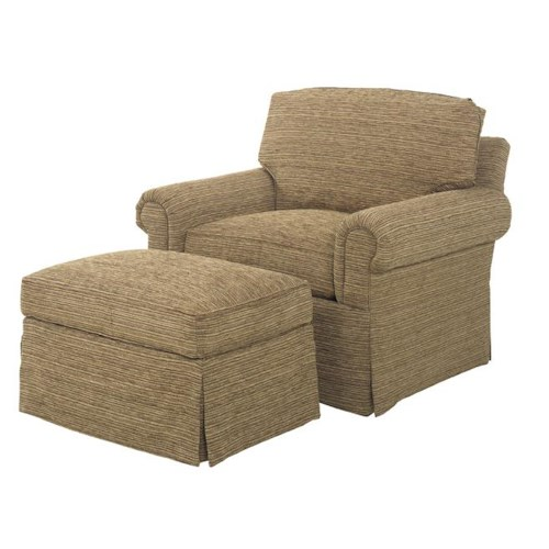 Lexington Personal Design Series Customizable Bennett Chair and Ottoman with Skirt