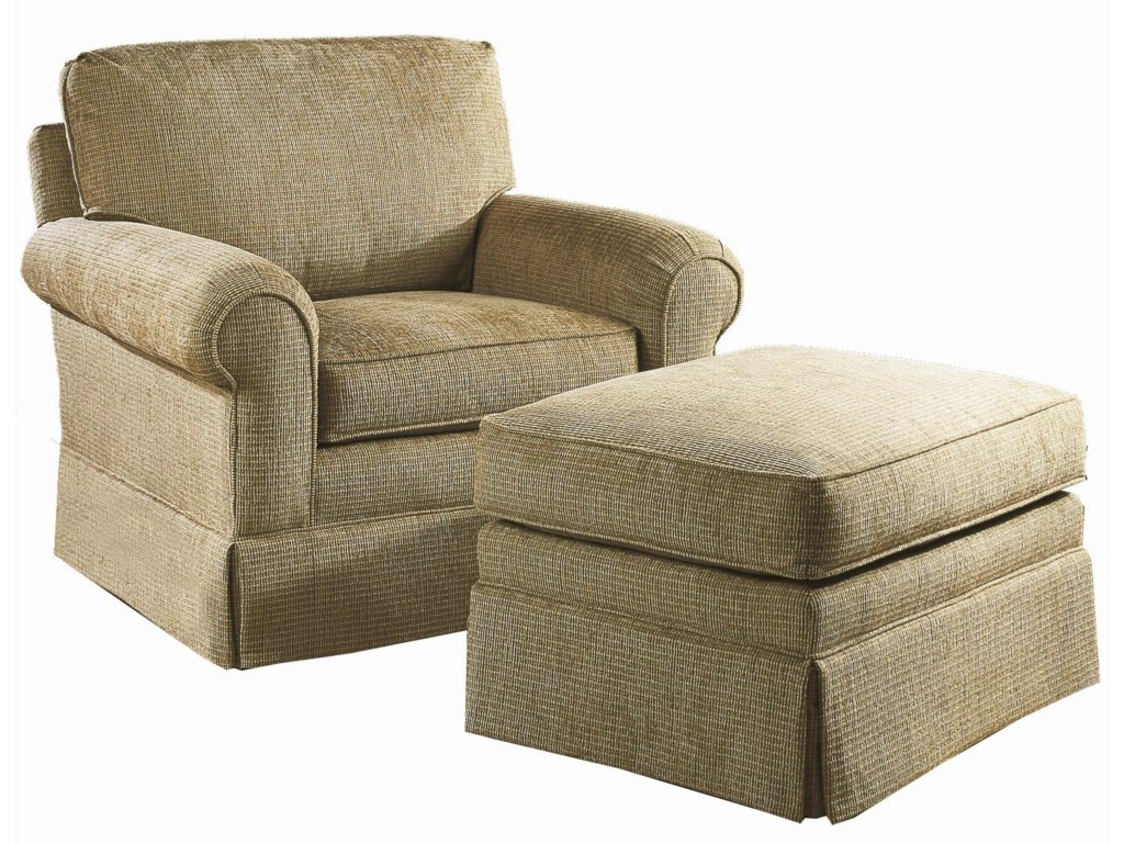 Shown in Alternative Fabric with Ottoman