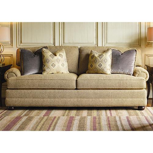 Lexington Personal Design Series Customizable Overland Sofa with Sock Arm and Bun Feet