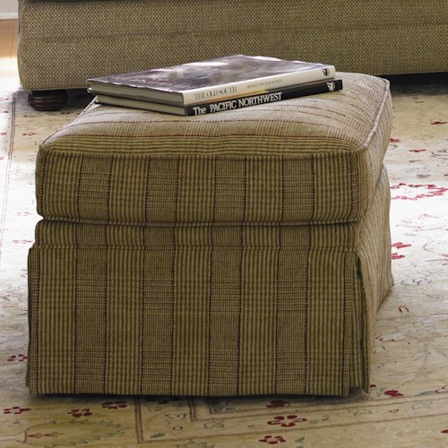 Lexington Personal Design Series Customizable Overland Ottoman with Skirted Base