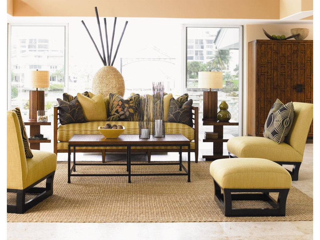 Shown with Fusion Ottoman, St. Lucia Sofa, Ocean Reef Cocktail Table, and Lagoon Lamp Table