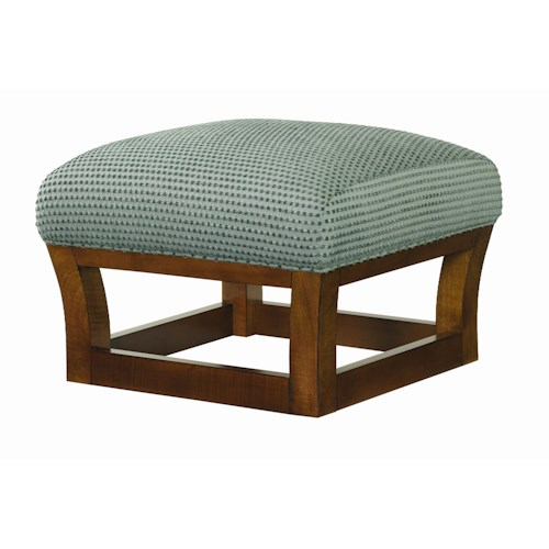 Tommy Bahama Home Ocean Club Fusion Ottoman with Contemporary Frame Base