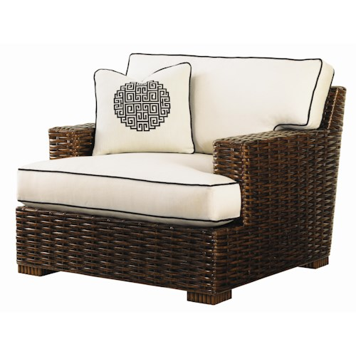 Tommy Bahama Home Ocean Club Woven Split Rattan Salina Chair