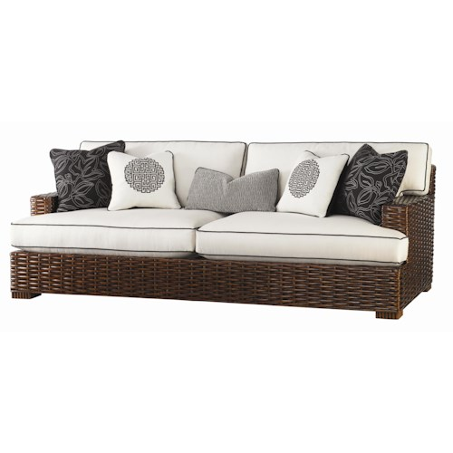 Tommy Bahama Home Ocean Club Woven Split Rattan Salina Sofa