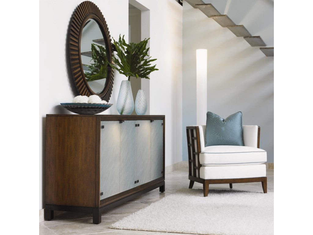 Shown with Abaco Chair and Reflections Mirror
