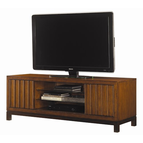 Tommy Bahama Home Ocean Club Intrepid Entertainment Console with Two Sliding Doors
