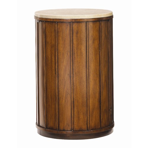 Tommy Bahama Home Ocean Club Stone Top Drum Table