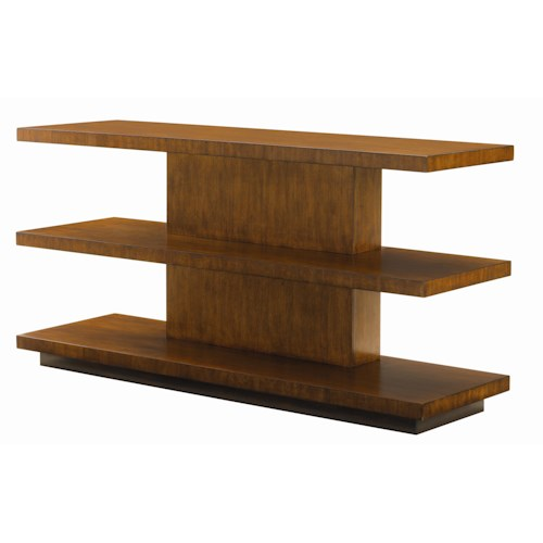 Tommy Bahama Home Ocean Club Two Shelf Lagoon Sofa Table