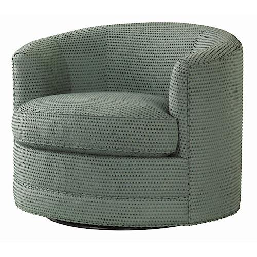 Tommy Bahama Home Ocean Club Contemporary Kava Swivel Chair