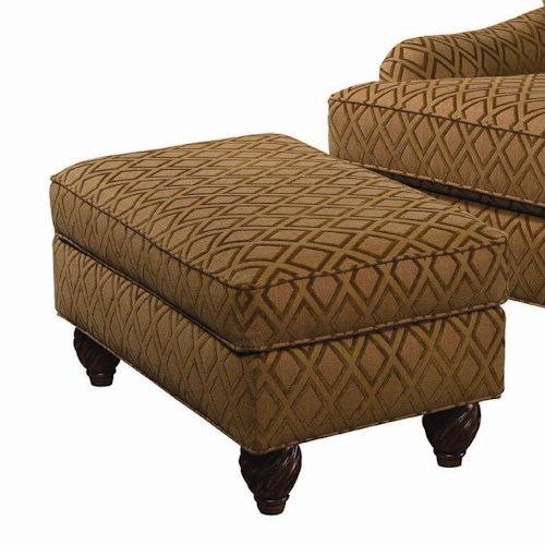 Tommy Bahama Home Island Estate Regatta Semi-Attached Top Ottoman