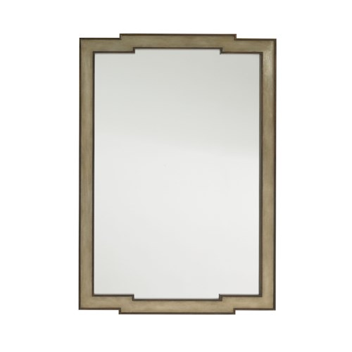 Lexington Tower Place Contemporary Glencoe Wall Mirror with Gold Leaf Frame